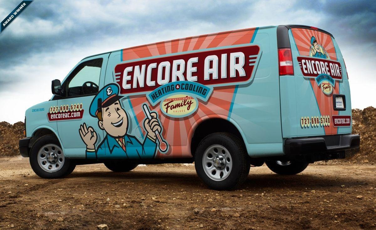 Encore Air Heating Cooling Kickcharge Creative Car Wrap