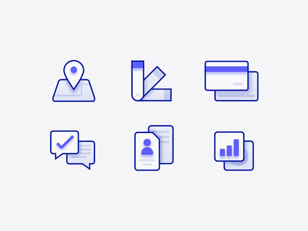 Depth icons Line icon, Icon design, Show, tell