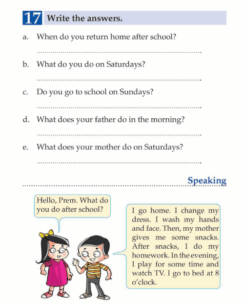 English Lesson Grade 1 What Time Do You Get Up English Page 14 English Teaching Materials English Language Teaching English Learner