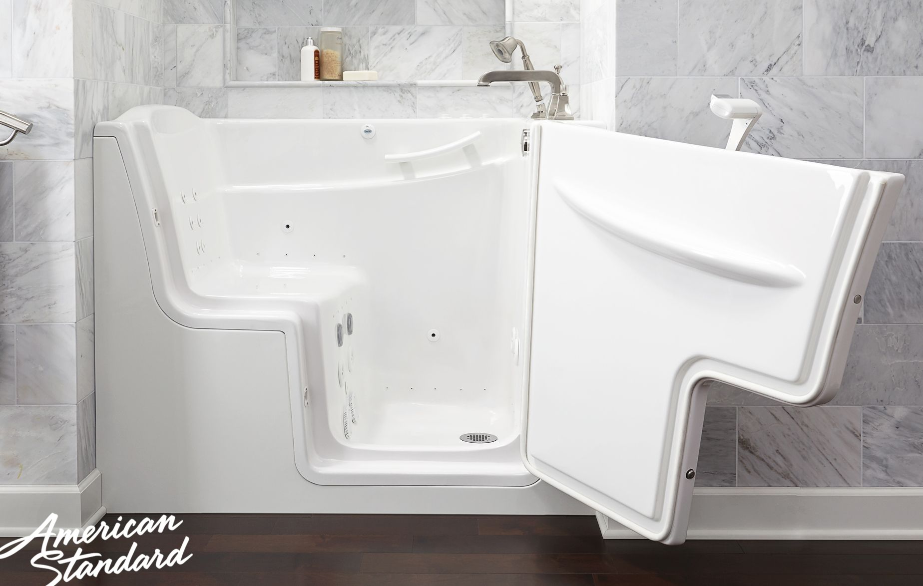 Keeping safety and style in mind, the American Standard Walk-in Bath ...