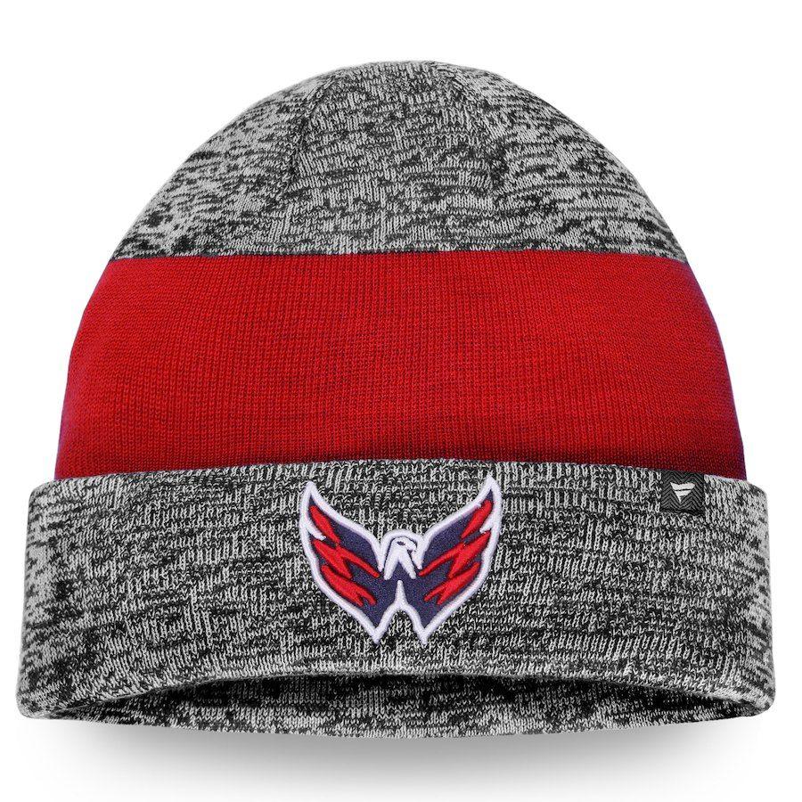 a1fdd9f3a85 Men s Washington Capitals Gray Red Static Cuffed Knit Hat