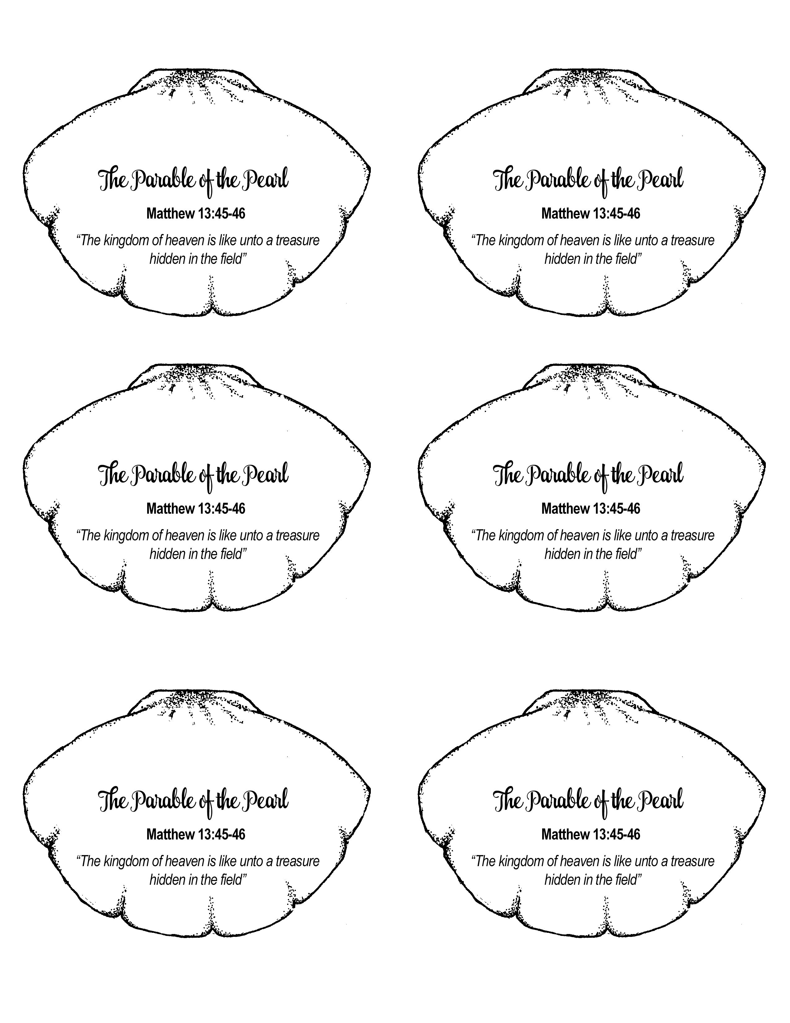 Parable Of The Hidden Treasure Sunday School Coloring Pages