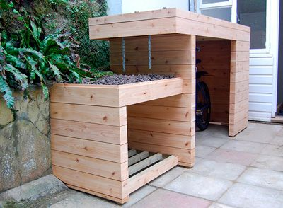 Organic spaces individually designed cabins garden for Garden office and storage
