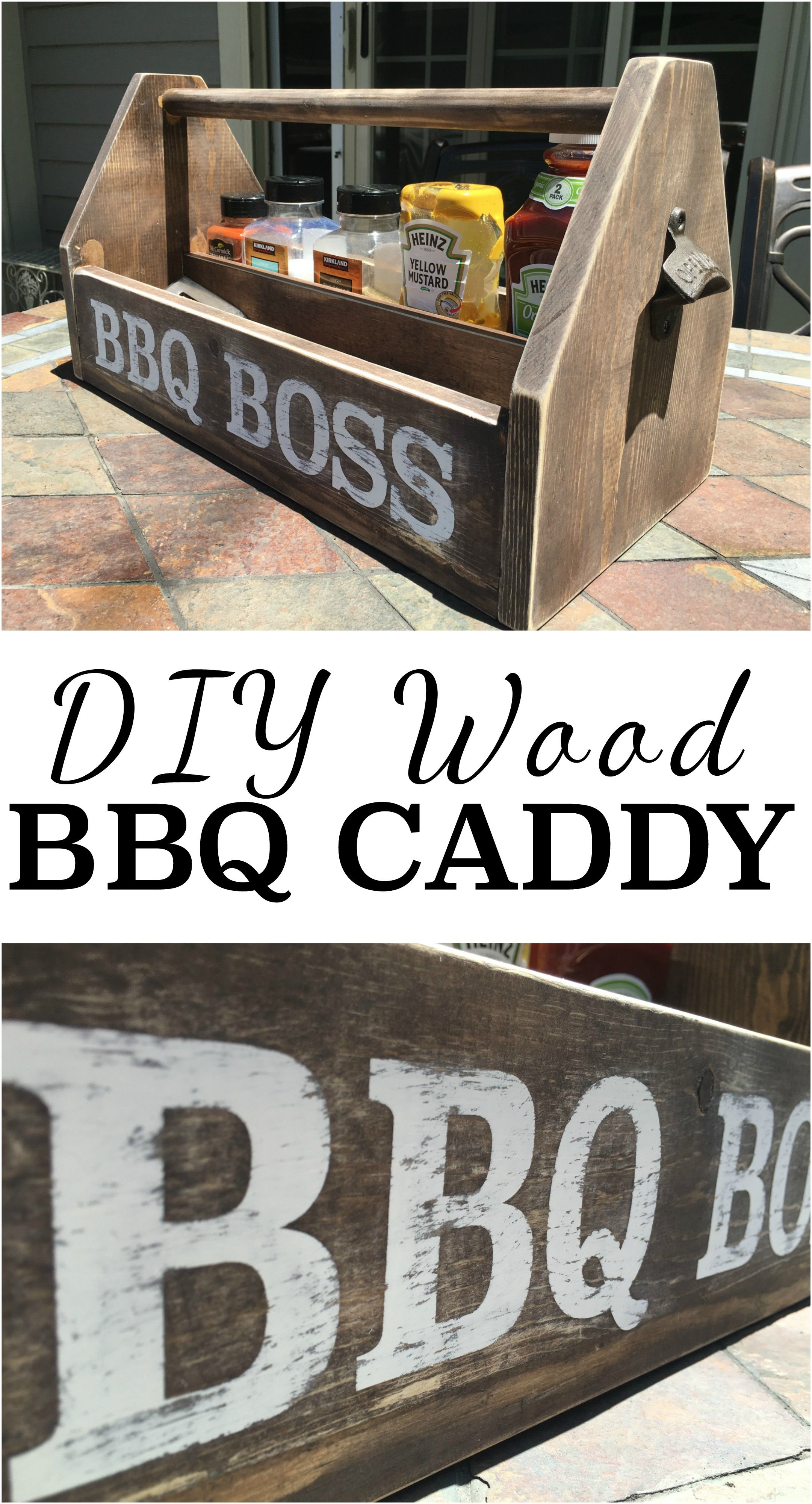 Diy wood bbq caddy summer father and bottle opener diy wood bbq caddy solutioingenieria Images