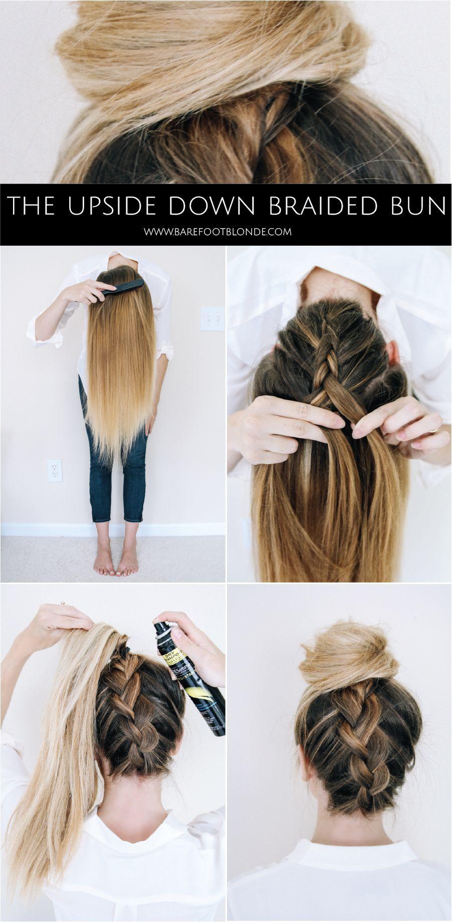 The upside down braided bun! | hairstyles | Pinterest | Blondes ...