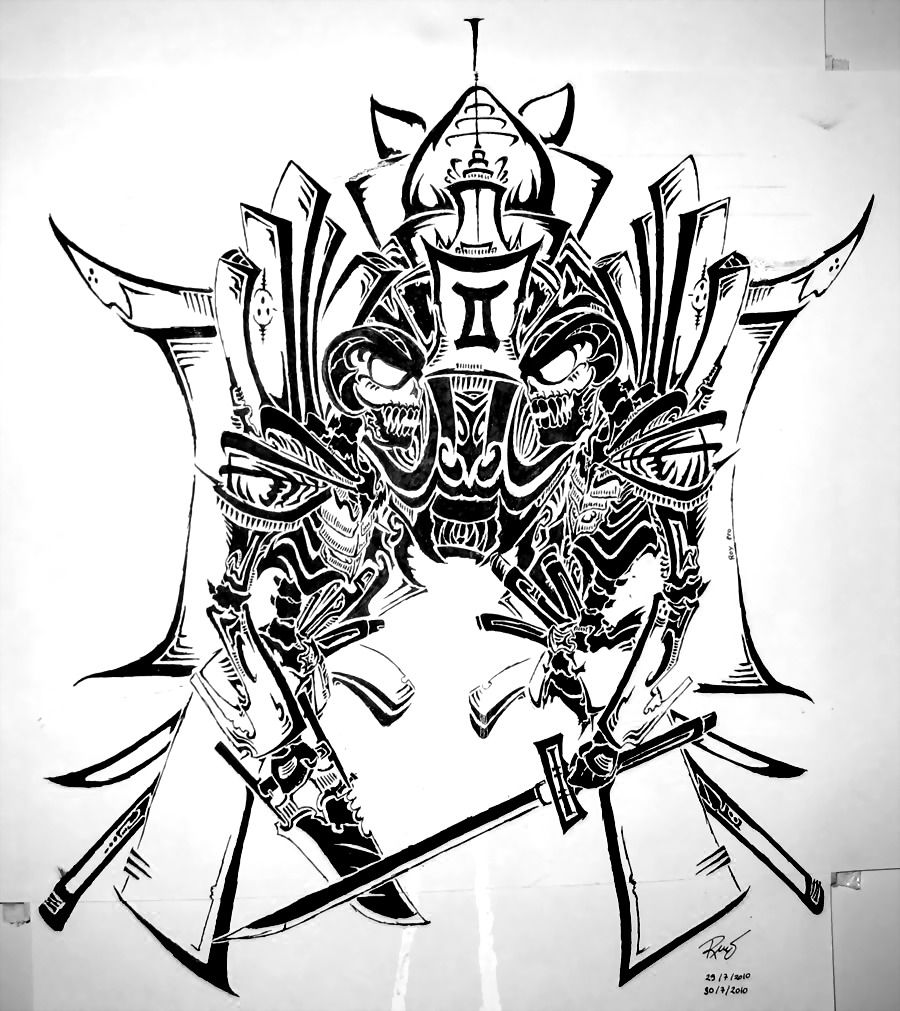 Tribal Gemini Tattoos For Guys: Tribal Gemini By RoyCorleone On DeviantArt