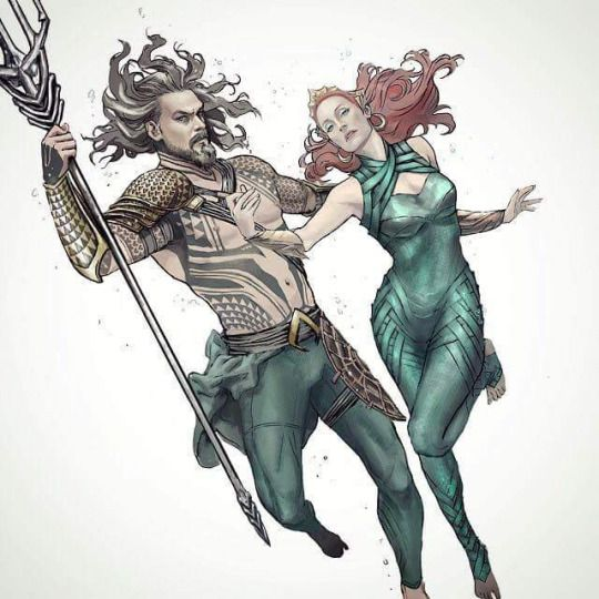 New Jason Momoa And Amber Heard Aquaman Image: Jason Momoa Aquaman And Mera By Tiago Da Trini