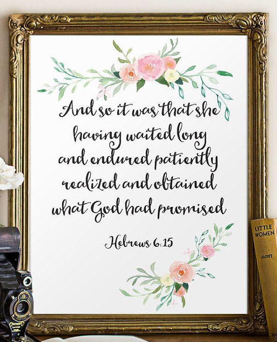 Nursery Bible Verse Art Print Printable Wall By TwoBrushesDesigns