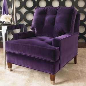 Charmant U201cModern Luxeu201d Club Chair From Century Furniture, In Amethyst Mohair. Sadly,