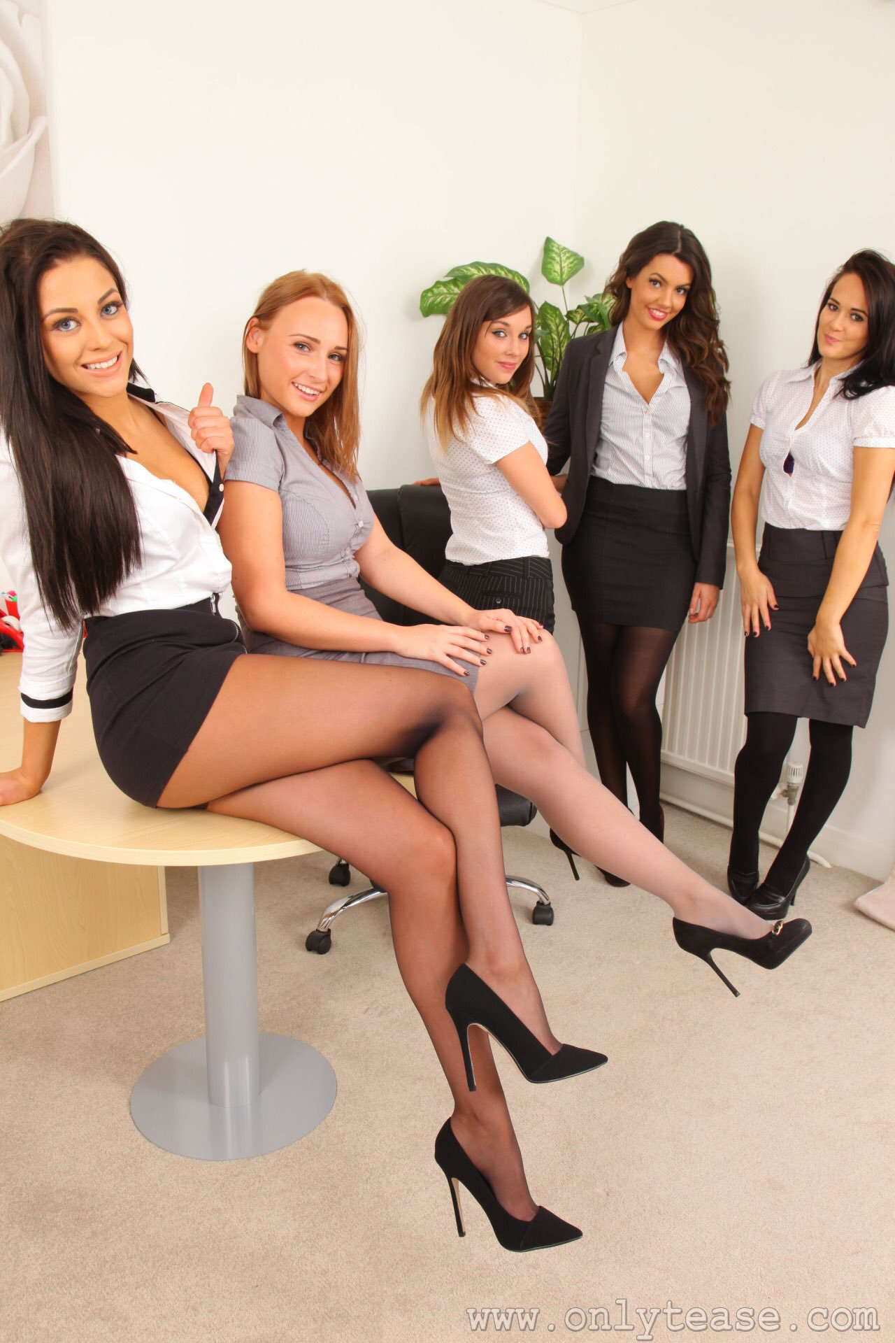 Pantyhose office girl-7925