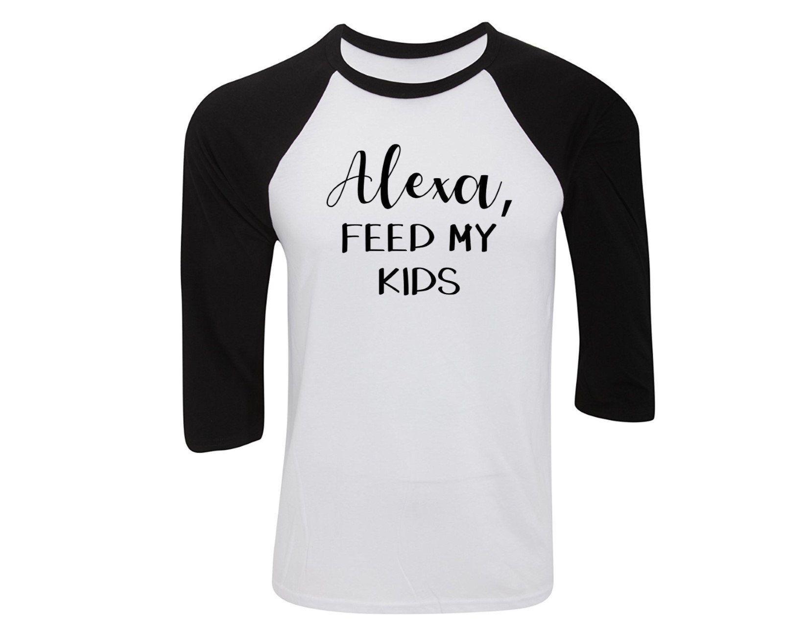 Alexa Feed My Kids Svg Amazon Amazon Echo Funny T Shirt