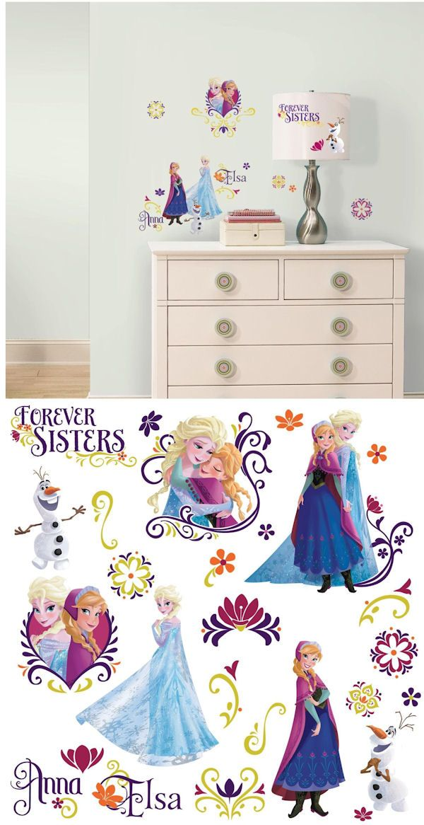 Disney Frozen Spring Peel And Stick Wall Decals   Wall Sticker Outlet