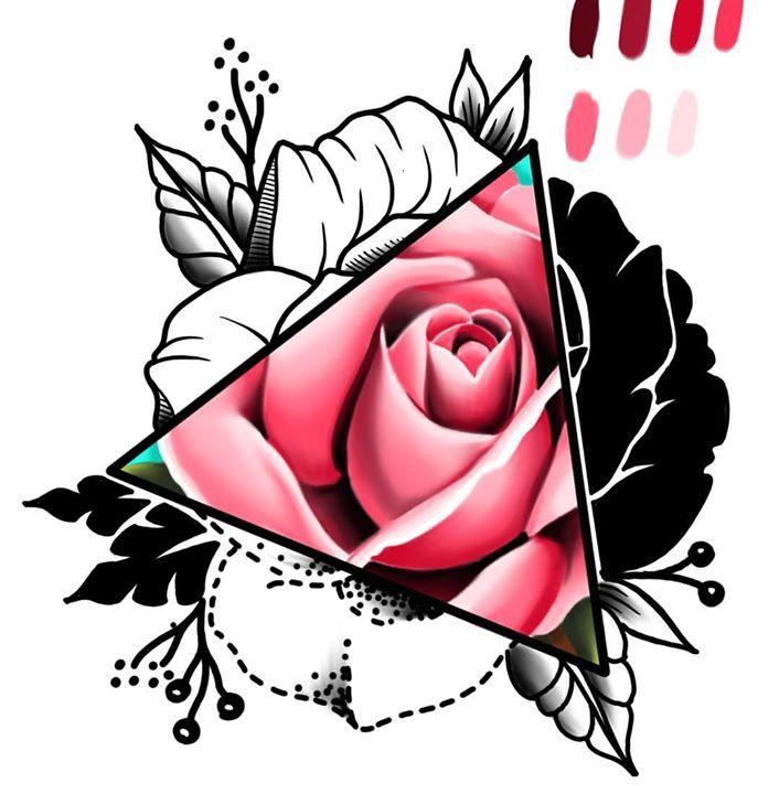 мини картинки для тату роза