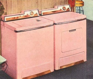 I Die Lady Kenmore Pink Washer And Dryer With Agh Copper Trim Vintage Laundry Retro Laundry Room Vintage Ads
