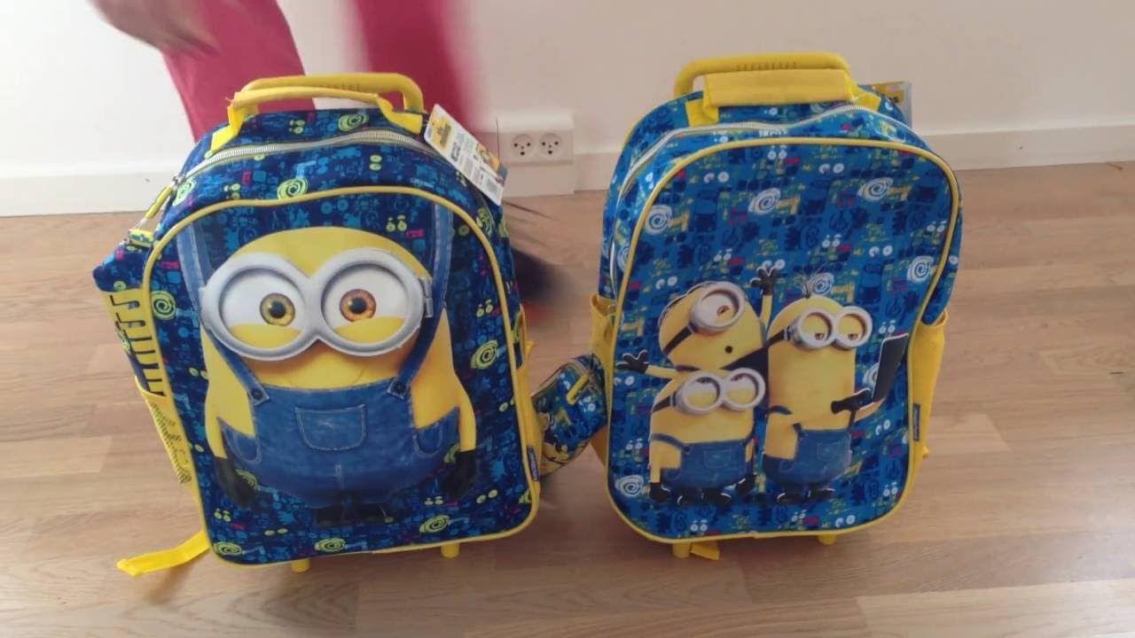 Minions 3-i-1 skoletasker med rundt penalhus