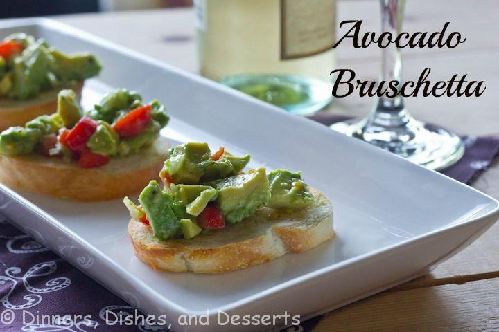 Avocado Bruschetta from @Dinnersdishesdessert