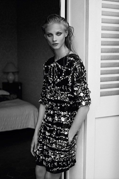 Anna in black and white for Pierre Balmain