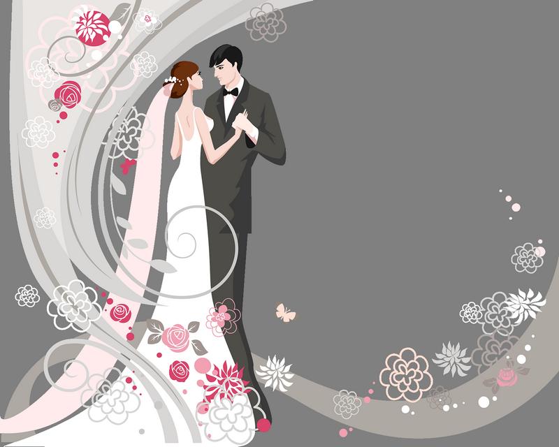 86bXX96D84.png | Свадебная иллюстрация, Свадебные ...