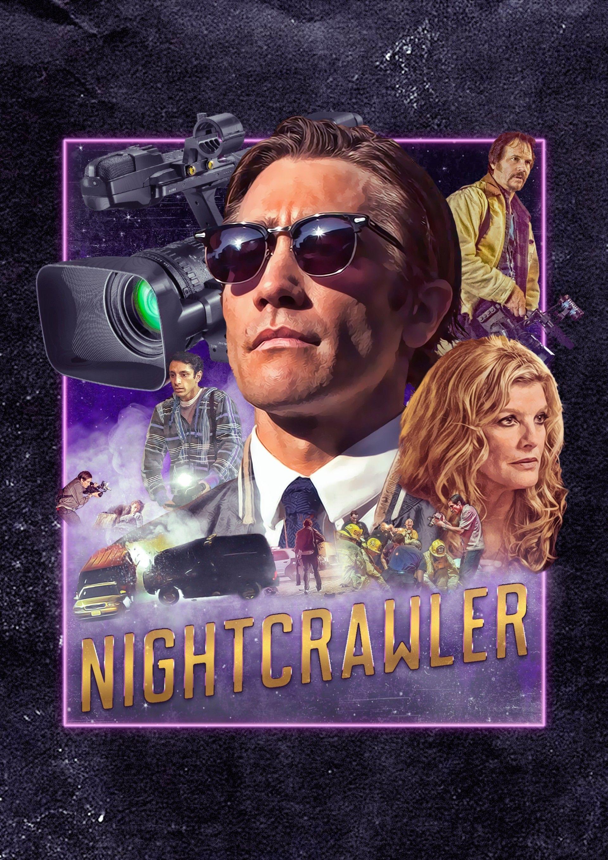 NIGHTCRAWLER Movie PHOTO Print POSTER Textless Film Art Jake Gyllenhaal LA 002