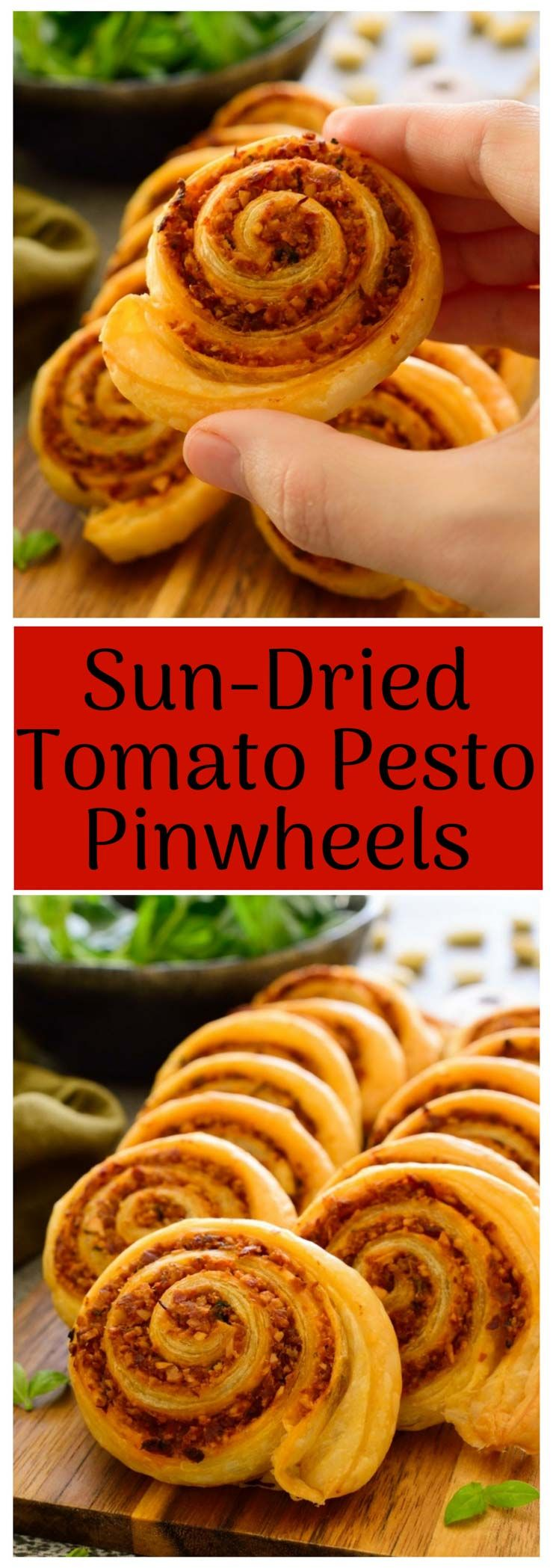 Vegan Pinwheels with Sun-Dried Tomato Pesto #appetizersforparty