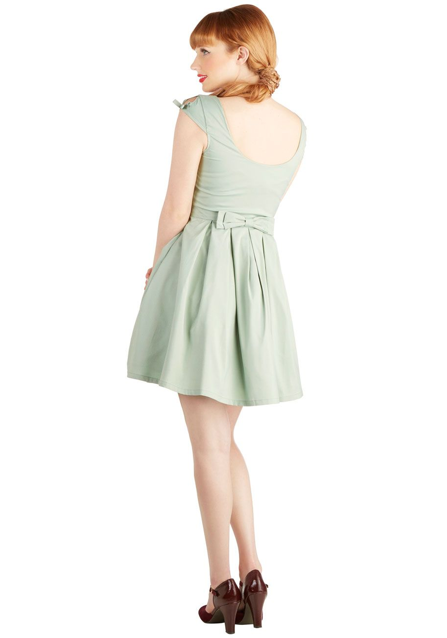 812ae9d82ff7b6 Nominee of the Night Dress in Sage. You've accomplished a lot this year -  now, dressed in this darling, sage-green, bow-backed frock from Myrtlewood-  found ...