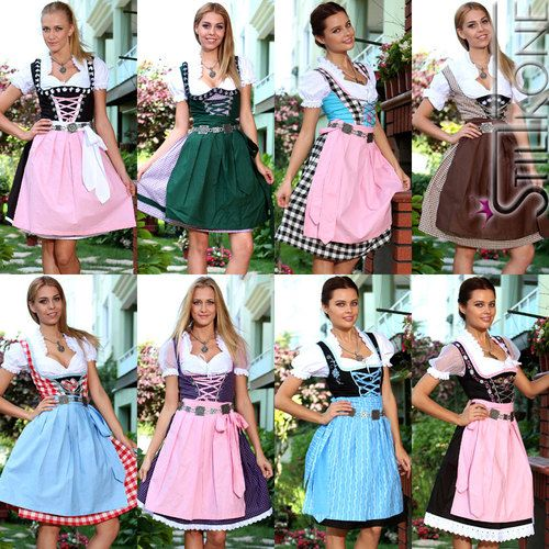s es midi dirndl oktoberfest dirndl trachten kleid dirndl. Black Bedroom Furniture Sets. Home Design Ideas