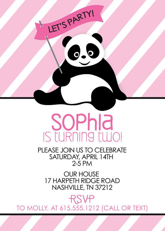 Panda Party Invitation-Birthday party invitation by swankypress