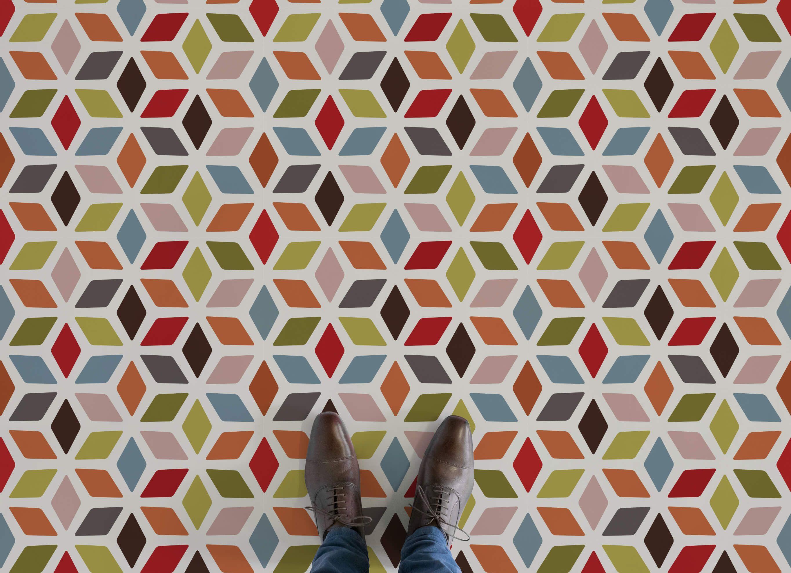 Colourful Retro Vinyl Flooring