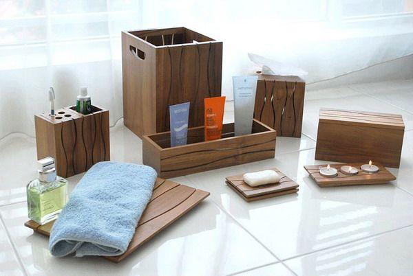 Wavy Bathroom Accessories Teak Wood Gallery Teak Bathroom