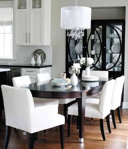 High Contrast Dining Room