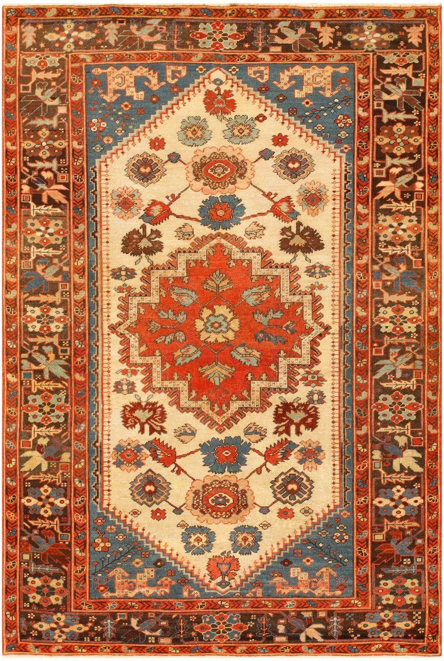 Tribal Small Antique Persian Bakshaish Rug 46542 In 2019