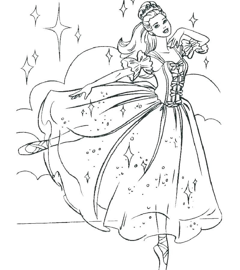 Top 10 Gorgeous Ballet Dancers Coloring Pages For Girls Barbie