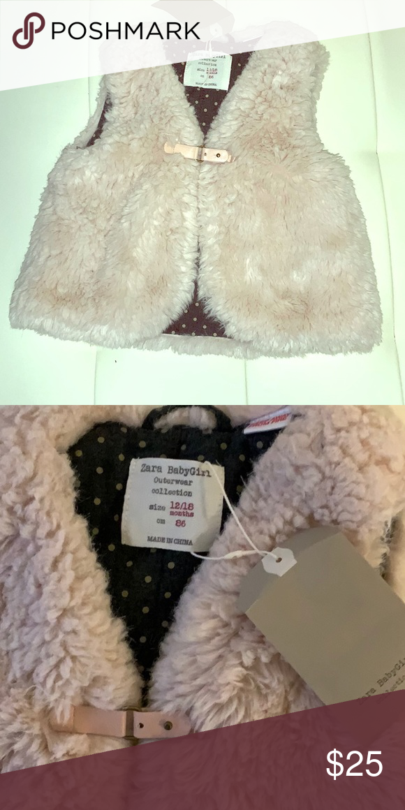 9848aa5ff Zara baby fur vest size 12 to 18 months NWT