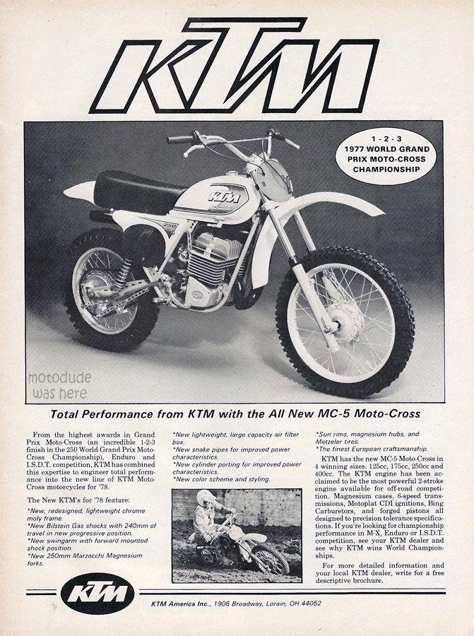 Motobilia Racing Bikes Ktm Vintage Motocross