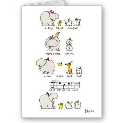 Hippo birdie card bookmarktalkfo Image collections