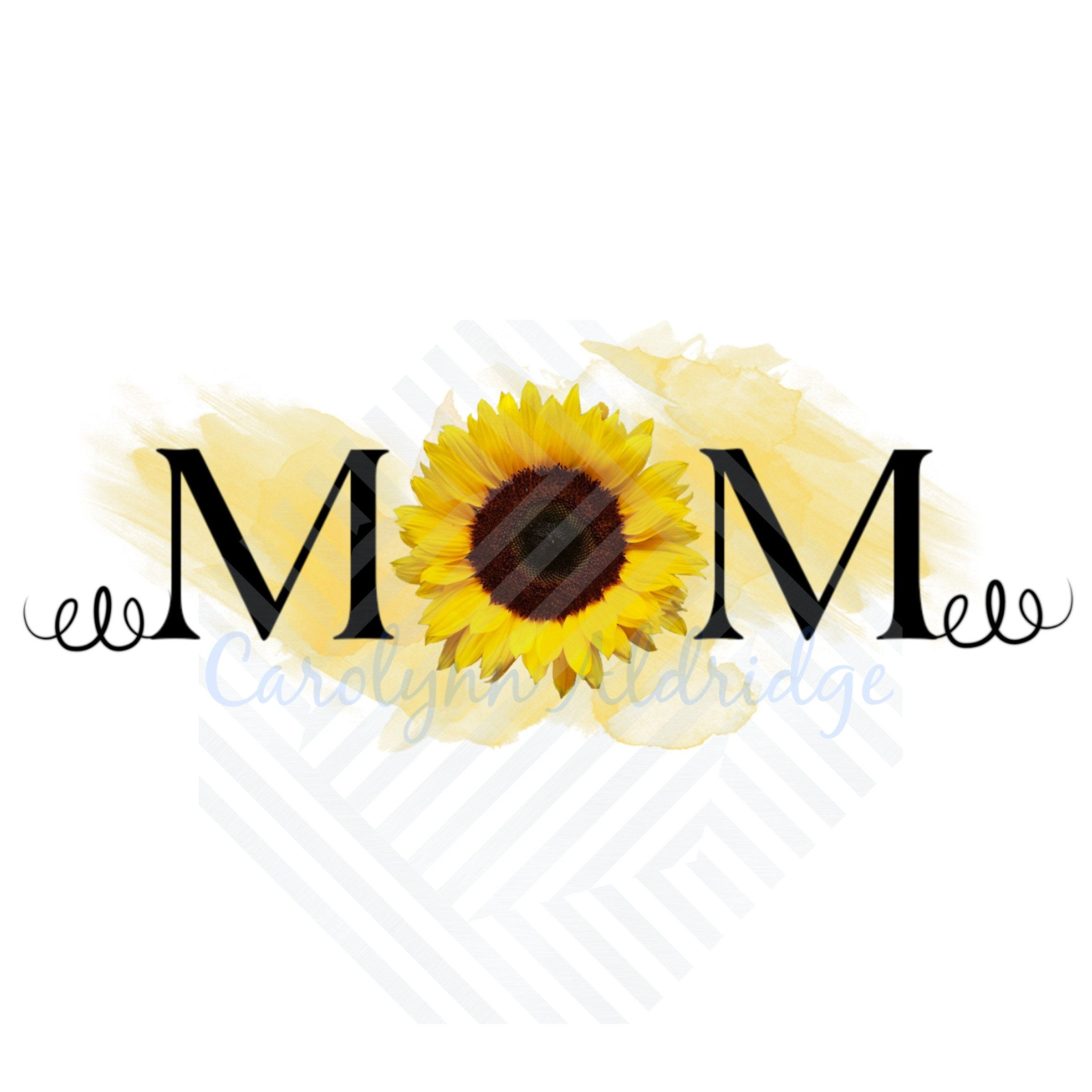 2 Png Mom Sunflower Watercolor Mother S Day Digital Etsy In 2021 Watercolor Sunflower Sunflower Drawing Sunflower