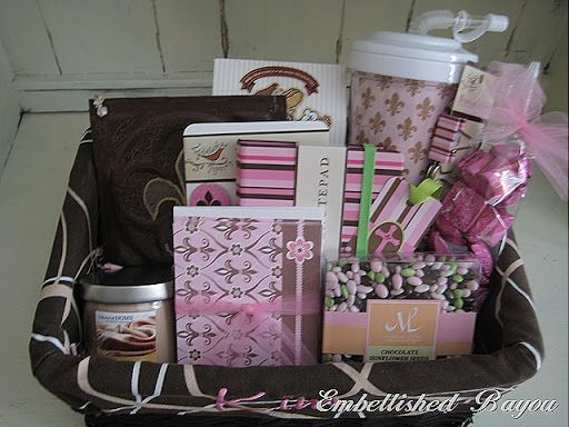 Office Supply Random Pink Gift Basket