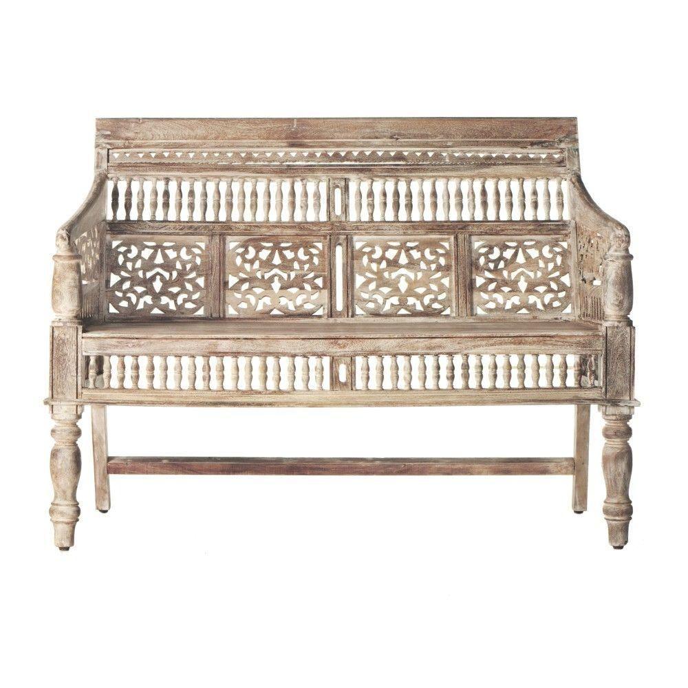 Maharaja Sandblasted White Bench