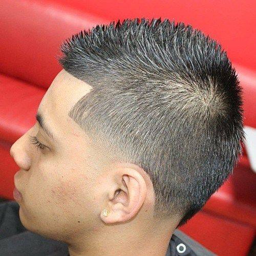Image result for Buzz Cut Faux Hawk.