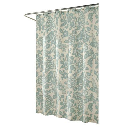 This Bold Shower Curtain Adds Eye Catching Style With Blooming Florals And  Exotic Birds In