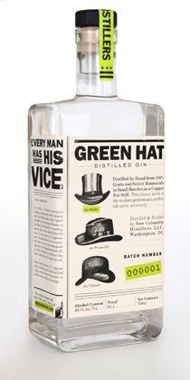 Green Hat Gin Distilled In D C Gin Wine Spirits Liquor Bottles