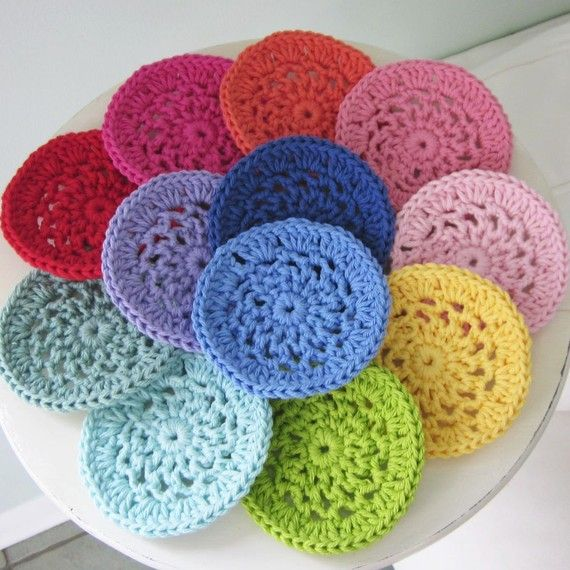 coasters, fun colors!