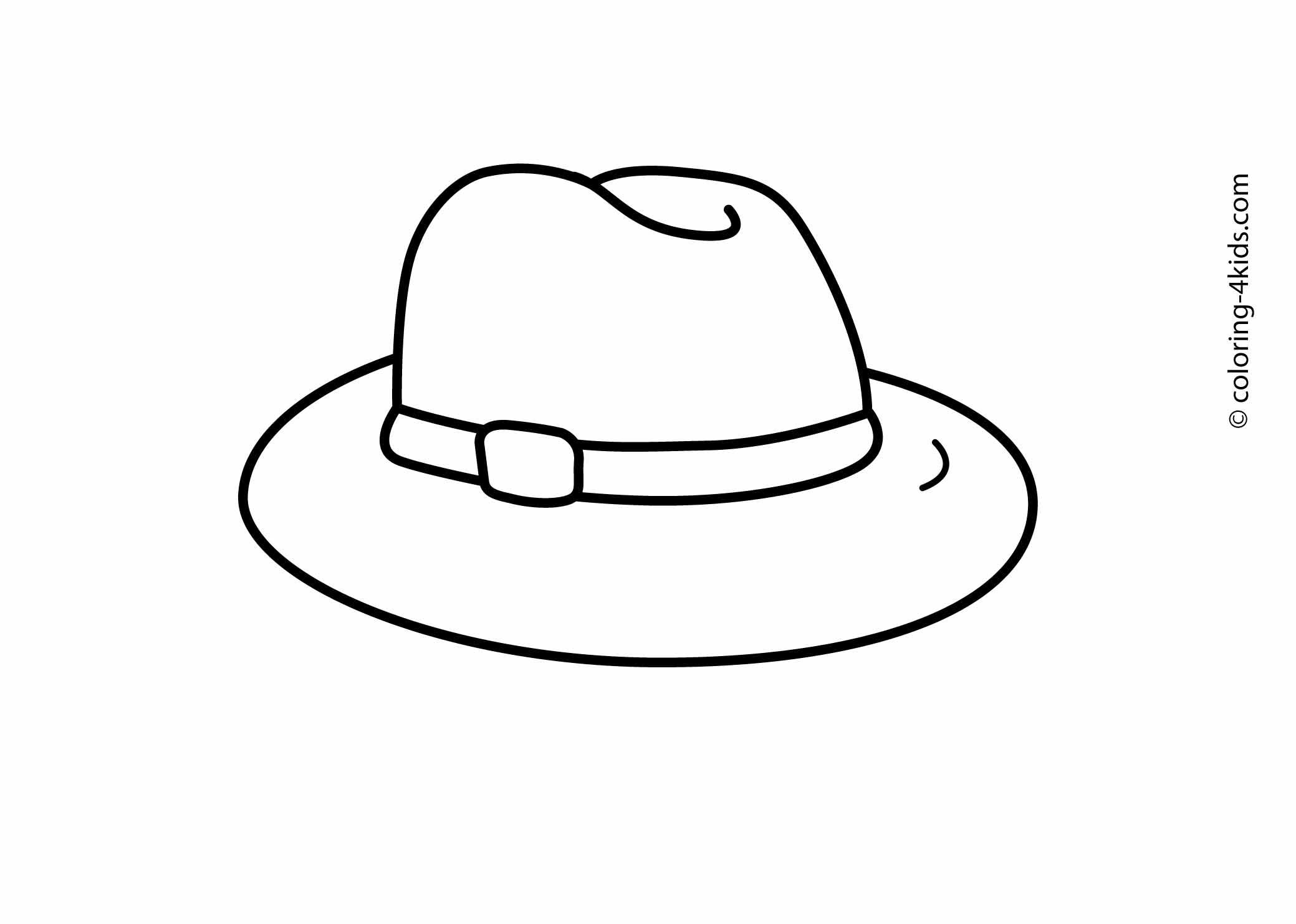 Hat Coloring Pages For Kids Printable Drawing