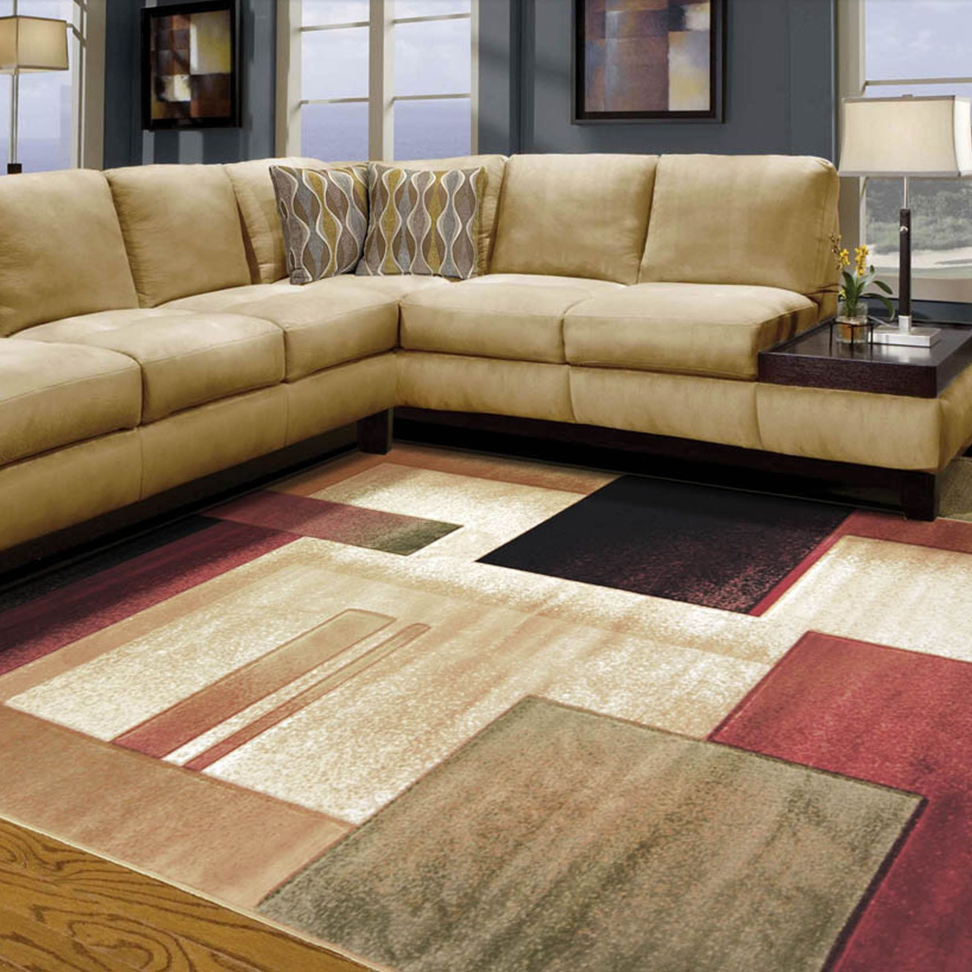 Room Modern Composition Area Rugs