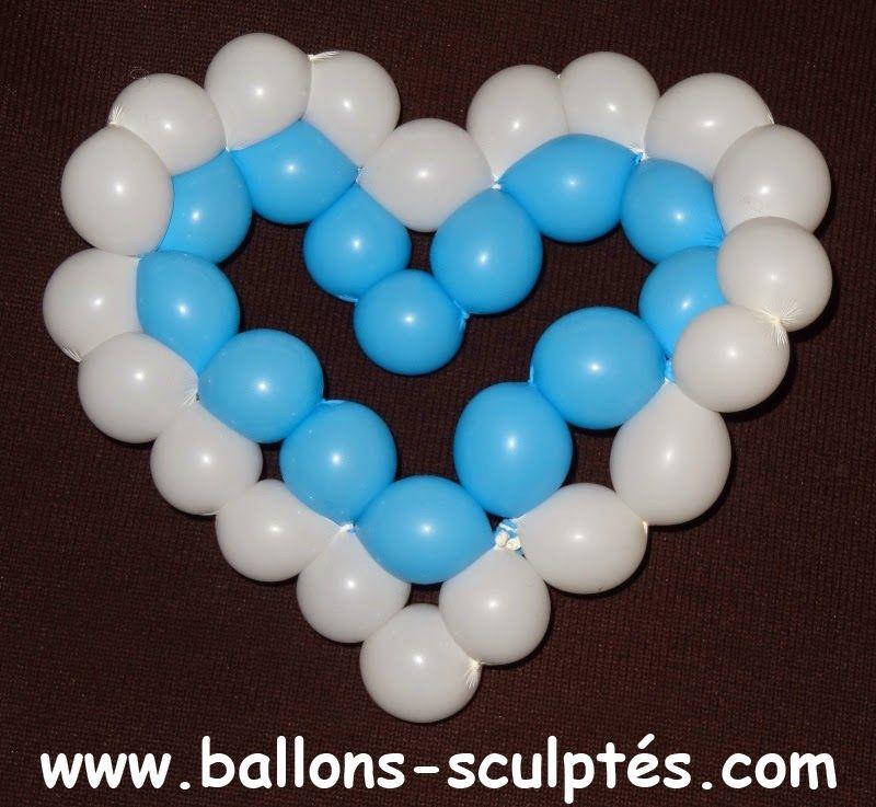 cœur en ballons. | sculpture de ballons | pinterest | ballon et coeur