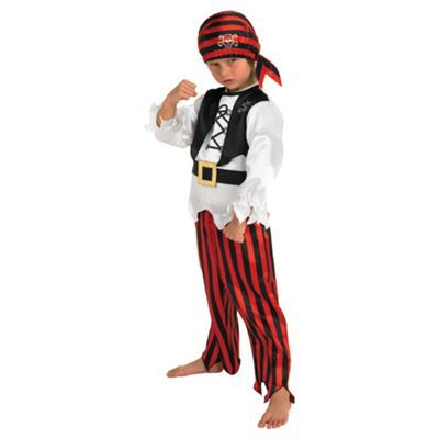 BOYS PIRATE CARIBBEAN FANCY DRESS COSTUME