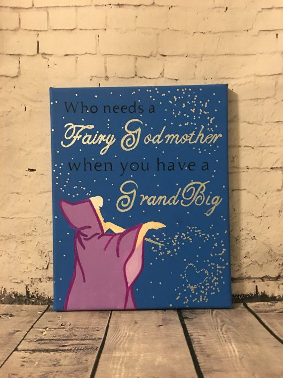 Grandbig Fairy Godmother Sorority Big Little Canvas #biglittlecanvas