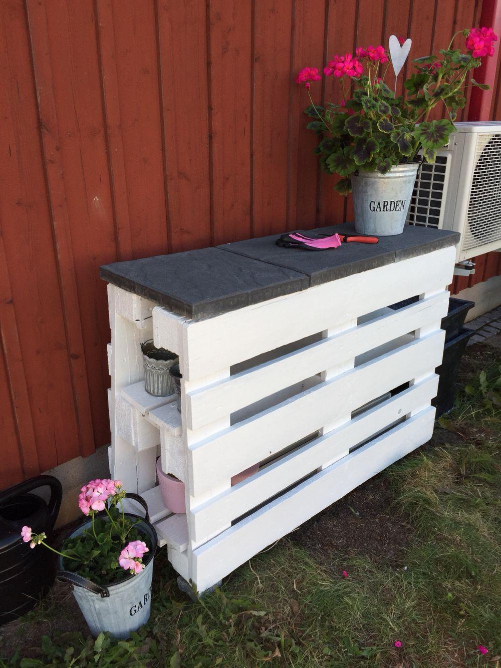 Planteringsbord av lastpallar Min trädgård Pinterest Pallar och Inredning