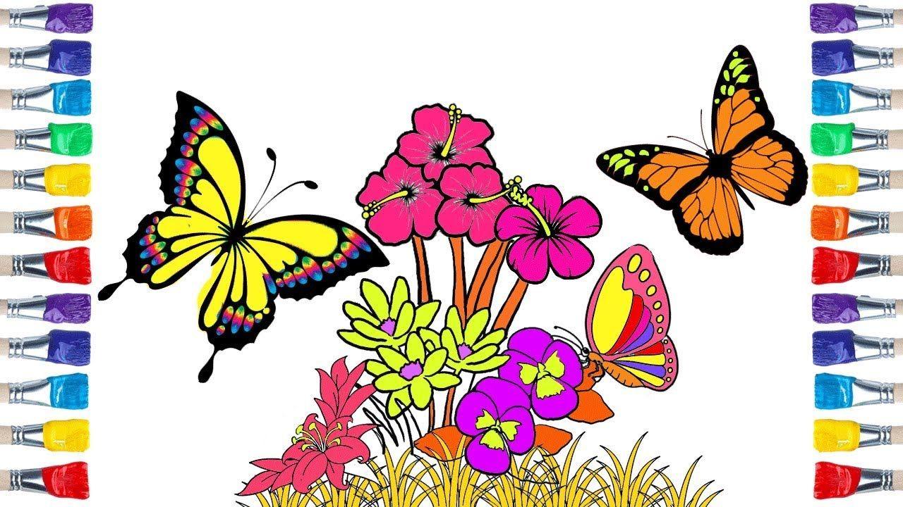 رسم الفراشة سهلة جدا How To Draw Butterfly Drawings Butterfly Drawing Flower Drawing