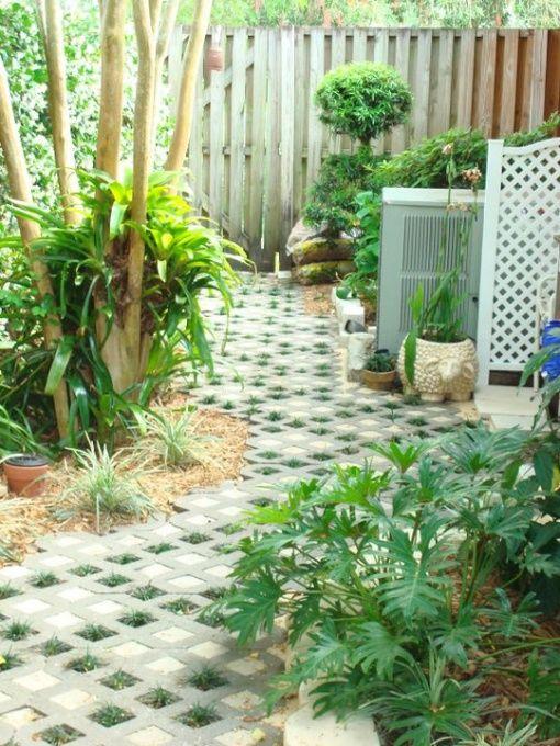 small east side yard shady
